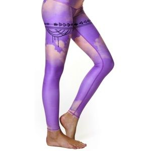 Teeki purple haze goddess leggings! Small